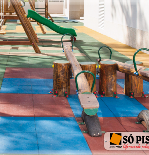 Piso de Borracha Ecológico Impact Soft Play 25mm