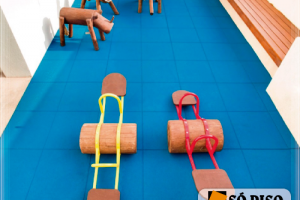 Piso de Borracha Ecológico Impact Soft Play 50mm